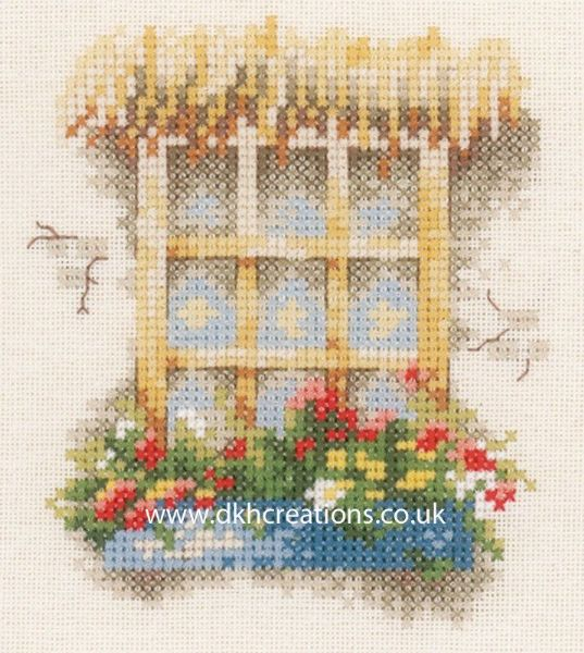 Window With Flowers Box Cross Stitch Kit